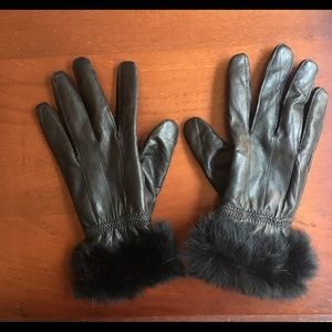 Accessories - Faux fur lined leather gloves